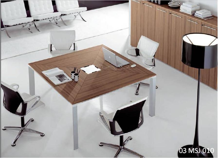 Muebles para oficinas   eOfficeMuebles   - Mesa De Juntas Cuadrada